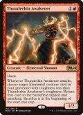 [EN][FOIL]《雷族の呼び覚まし/Thunderkin Awakener(M20)》英プロモパック