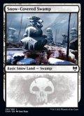 [EN][FOIL]《冠雪の沼/Snow-Covered Swamp(KHM)》281/285