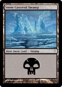 画像1: [EN][FOIL]《冠雪の沼/Snow-Covered Swamp(CSP)》