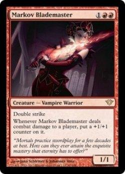 画像1: [EN][FOIL]《マルコフの刃の達人/Markov Blademaster(DKA)》