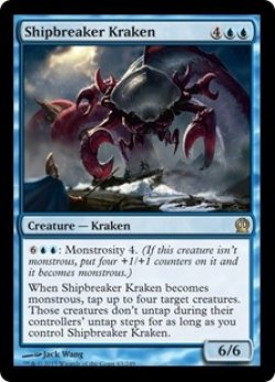 画像1: [EN][FOIL]《船壊しのクラーケン/Shipbreaker Kraken(THS)》